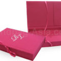 Monogram embroidered wedding invitation box