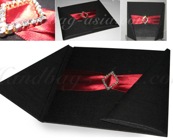 Black wedding folder for invitation cards