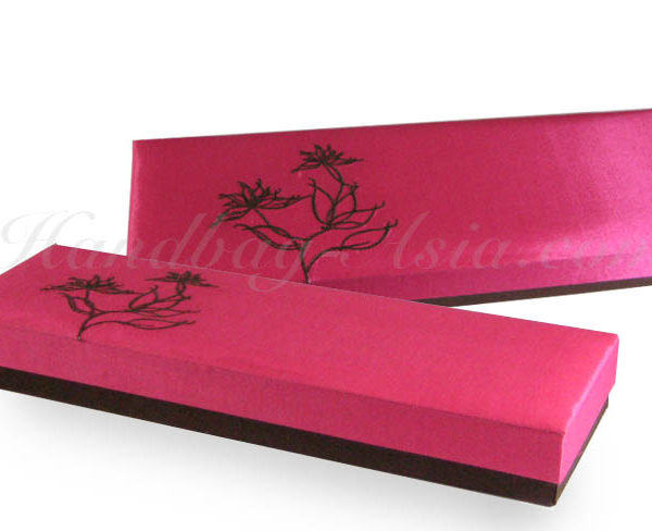 Embroidered silk gift box