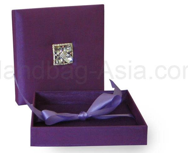embellished purple wedding box