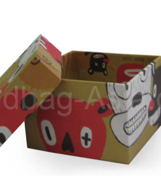Modern paper box with cool print