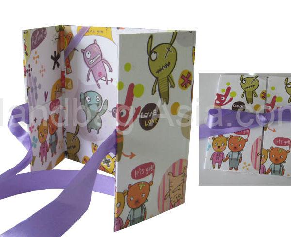 kids invitation paper folder