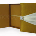 Silk covered wedding box with embellishment