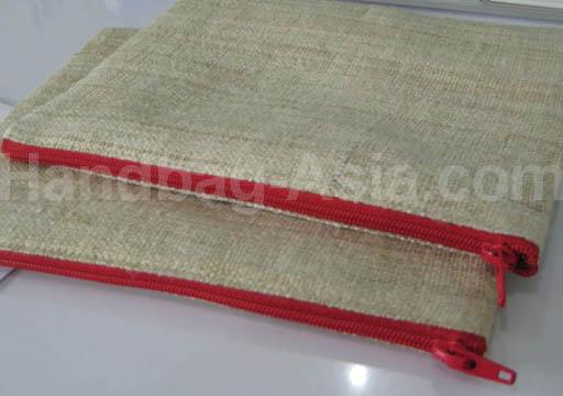 rectangle shaped hemp cosmetic bag