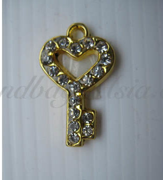 crystal key hanger for embellishment and key chains