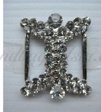 luxury silver rhinestone buckle