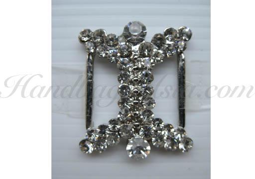 luxury silver rhinestone buckle