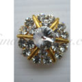 golden star rhinestone button