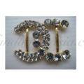 chanel style rhinestone buckle in gold