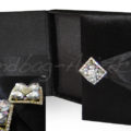 Luxury black velvet boxed wedding invitation