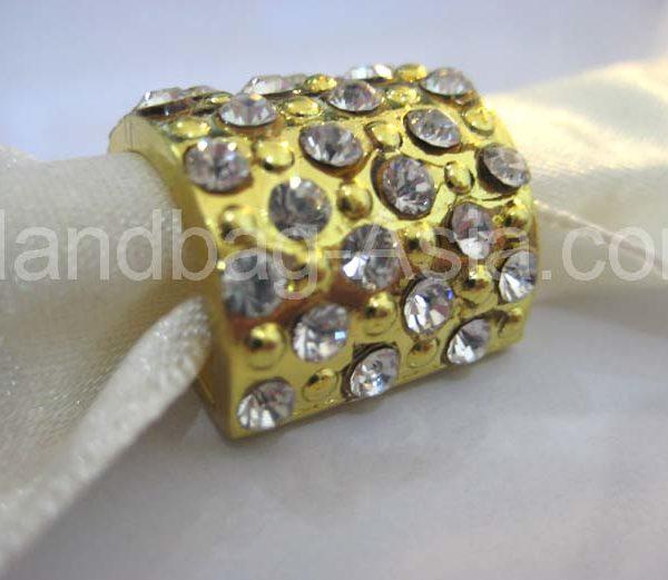 golden crystal buckle