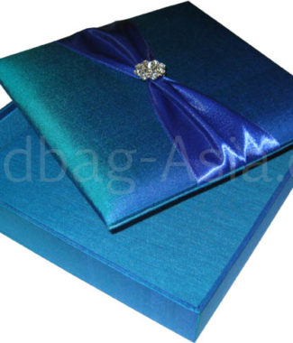 Turquoise wedding invitation box