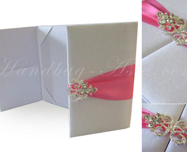 white custom invitation