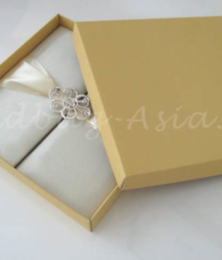 cream invitation box mailers
