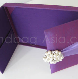 luxury purple boxed wedding invitation