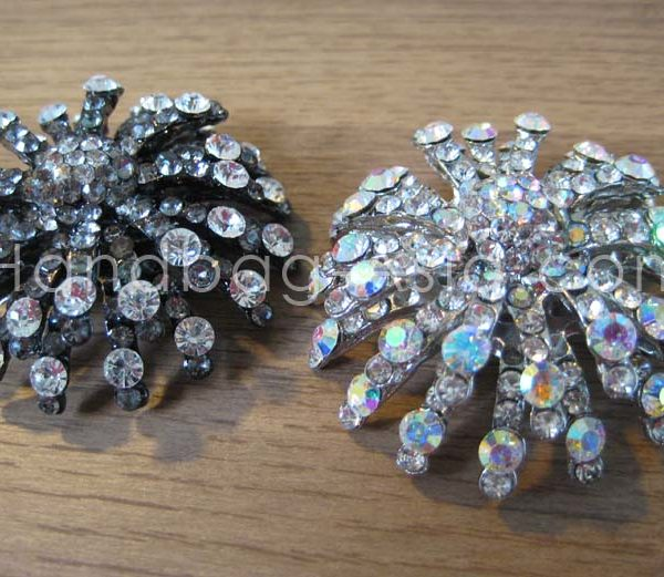 large crystal brooch for wedding embellishment