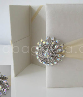 embellished luxury wedding invitation