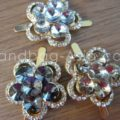 golden crystal brooch