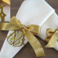 Silk wedding napkins
