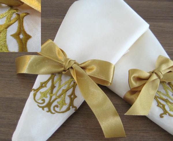 Silk wedding napkins