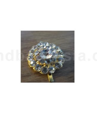 Small Golden Crystal Button