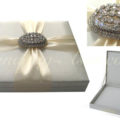 Wedding invitation box in ivory