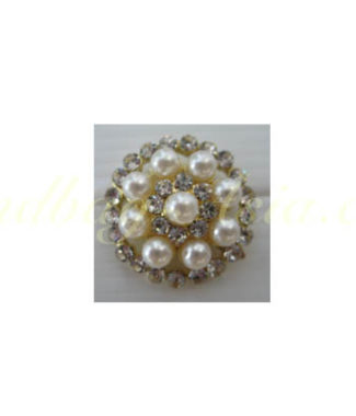 Golden pearl brooch
