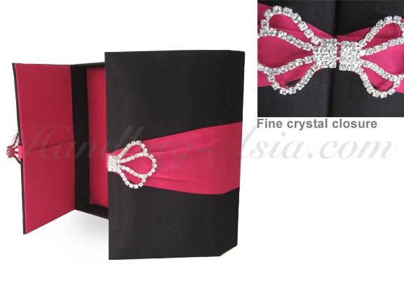 gatefold wedding box with brooch