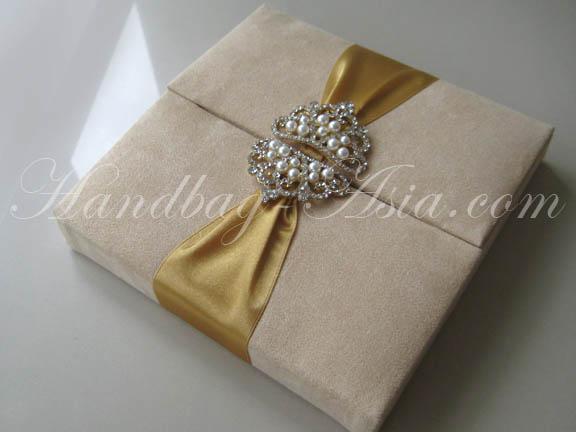 suede wedding box