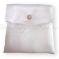 white wedding pouch