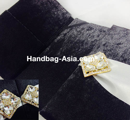 luxury black velvet invitation