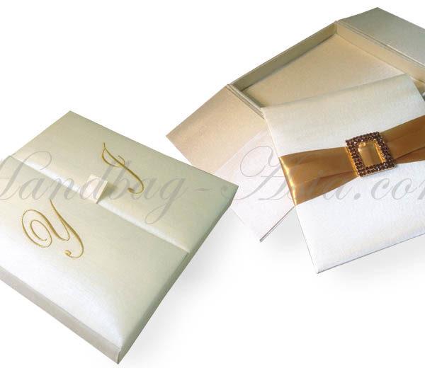 Monogram Embroidered Custom Wedding Box