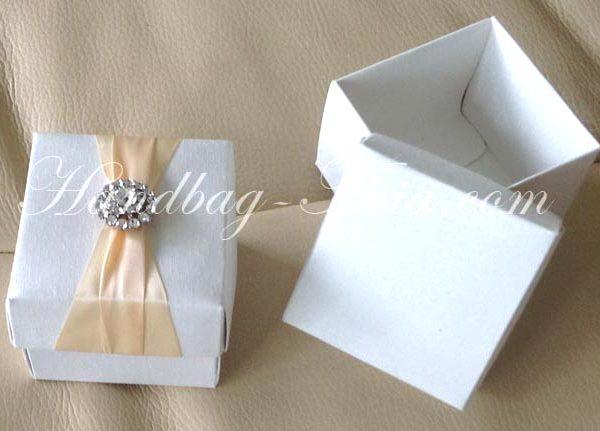silk wedding favor box