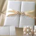 Ivory Pearl Wedding Favour Box