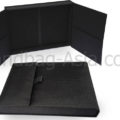 black wedding invitation box