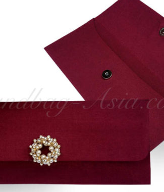 red silk envelope for invitations