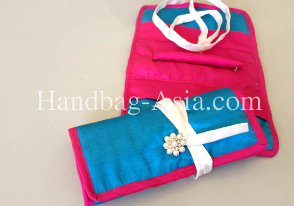 silk jewelry roll