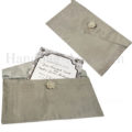 silver silk wedding envelope