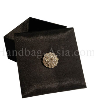 luxury black silk gift box