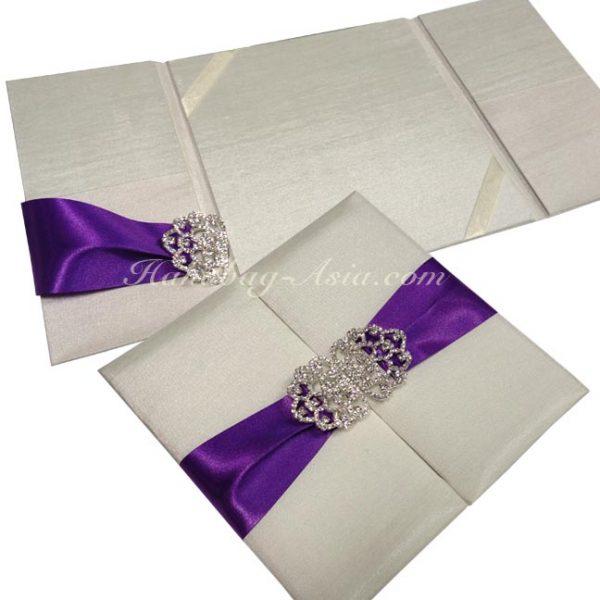 ivory wedding folder for luxury invites