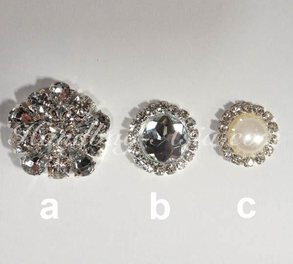 rhinestone crystal button