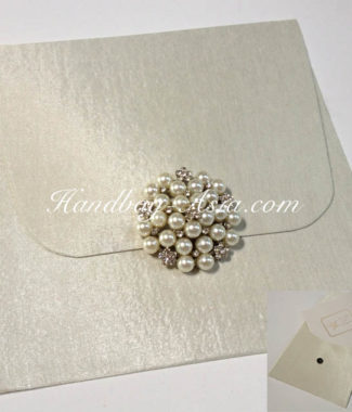 ivory invitation pearl envelope