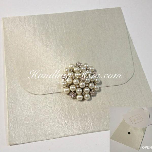 ivory invitation pearl envelope