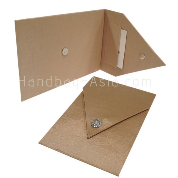 luxury business presentation envelope with business-card holder and pocket