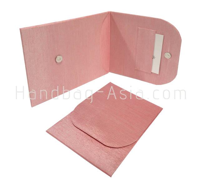 blush pink silk envelope for spring wedding invitation cards