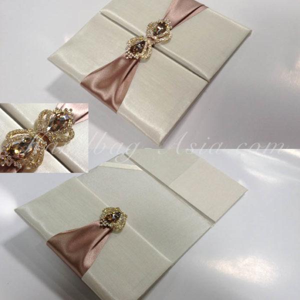 silk wedding folder