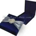 midnight blue wedding invitation box