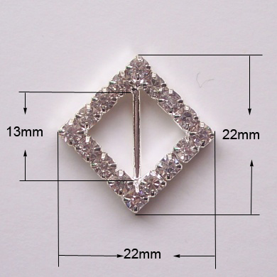 small silver crystal buckle