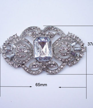 Antique Style Crystal Brooch