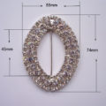 large oval rhinestone buckle